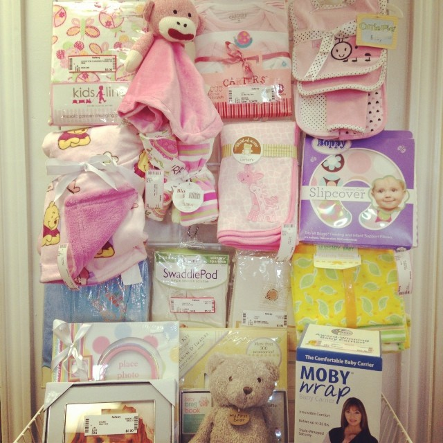 Great New With Tags Baby Gifts! #babyshower #mobywrap #babygifts