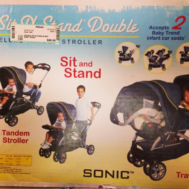 Baby Trend Sit N Stand Double, brand new-$88.00!#batonrouge #doublestroller#sitnstand# babytrend