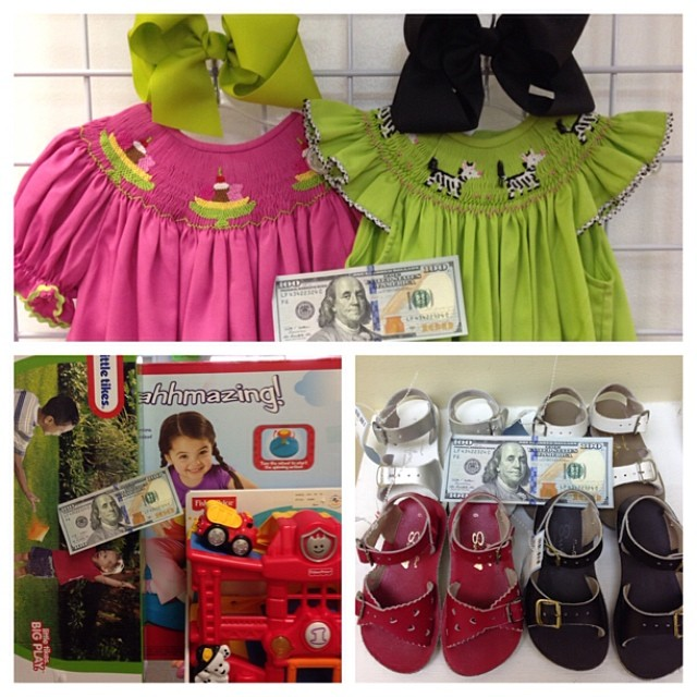 We Buy Your Clothes, Shoes, Baby Gear, & Toys! Get Paid $$$ Today!#sellbabystuff #sellkidsstuff #sellkidsclothes #sunsan #saltwatersandals #smocked #littletikes #playskool #fisherprice #cashforclothes #batonrougeresale