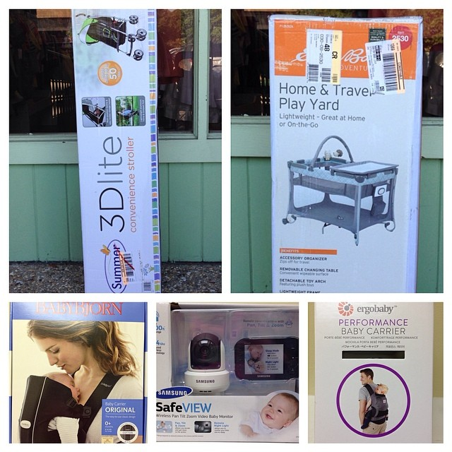 Brand New In Box Baby Equipment! #batonrougeresale #225 #ergo#babybjorn#eddiebauer#videomonitor#playyard#packnplay#babyshower#neverpayretail
