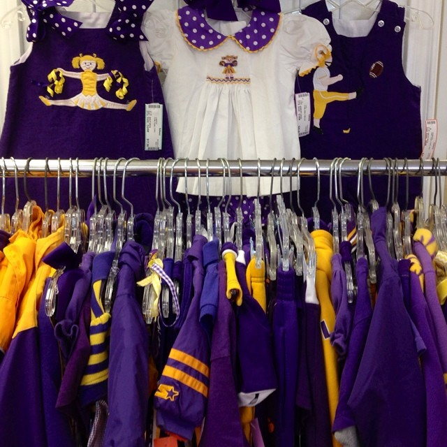 Ready For Football Season? We Are! #lsu#purpleandgold#tigers#smocked #baileyboys #remembernguyen