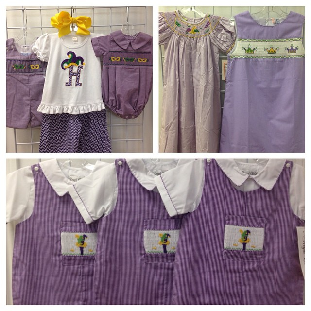 Look at these Mardi Gras Cuties! Spring arriving daily!#225 #batonrouge #refinerykids