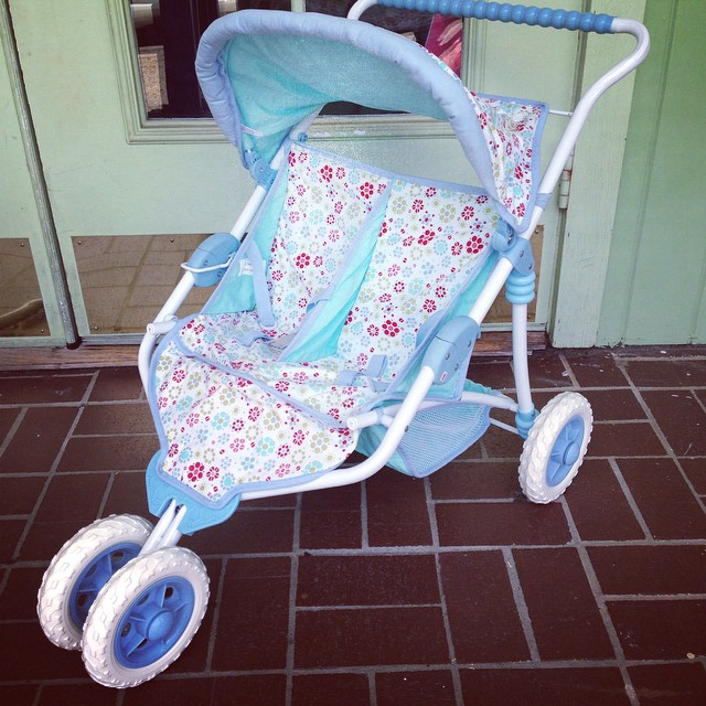 How cute is this American Girl doll double stroller? Retails for $70.00, we have it for only $24.99!#americangirl #batonrouge #refinerykids #225