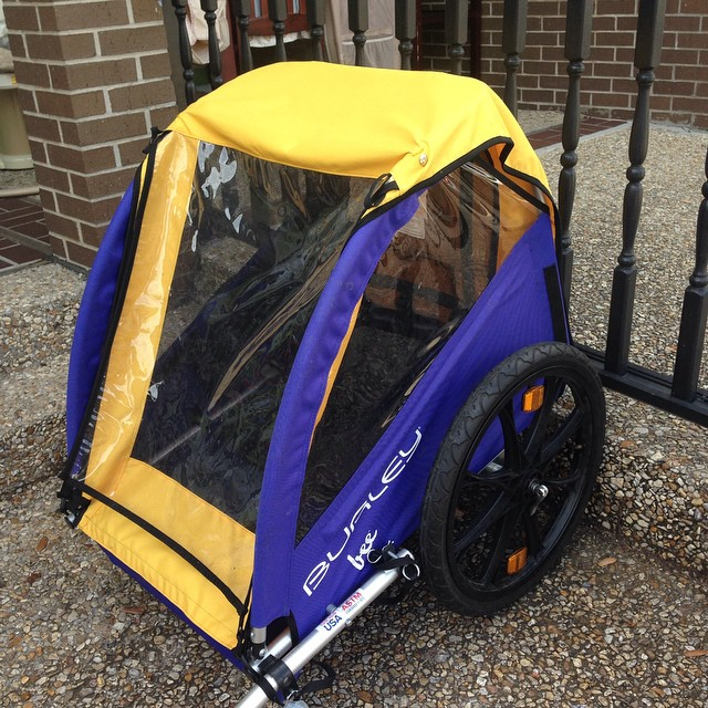 Just In: Burley double bike trailer! Retails for $300.00 our price is $99.99!#batonrouge #burley #refinerykids #225