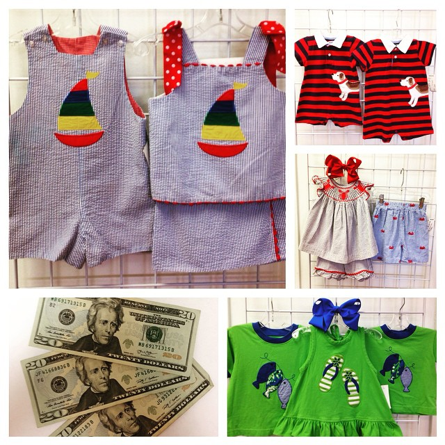 Adorable matching new arrivals! Sell your kids clothes, shoes, toys, & baby gear & get paid $$$ today!#mudpie #kellyskids #baileyboys #refinerykids #225 #batonrouge
