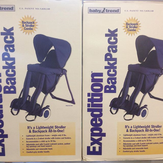 Brand New Backpack Carrier/Stroller Combo! 2 in stock right now!#babytrend #backpackcarrier #refinerykids #batonrouge #225