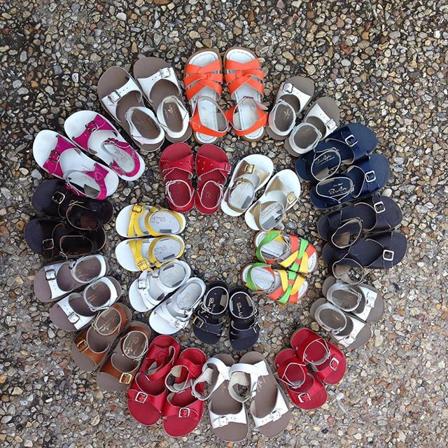 Look what we just bought! We love to buy ALL seasons of shoes!#sunsan #saltwatersandals #refinerykids #225 #batonrouge