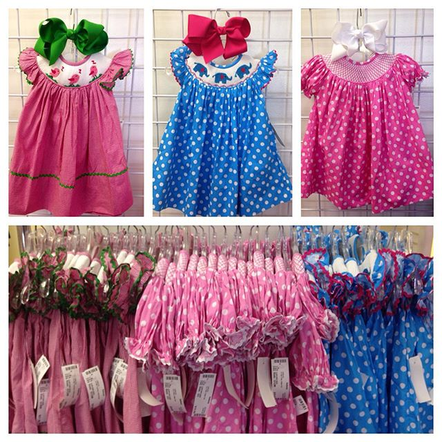 Just in: Huge group of brand new smocked dresses! Three styles available in 6 months through 3, only $19.00-$21.00!#batonrouge #refinerykids #225