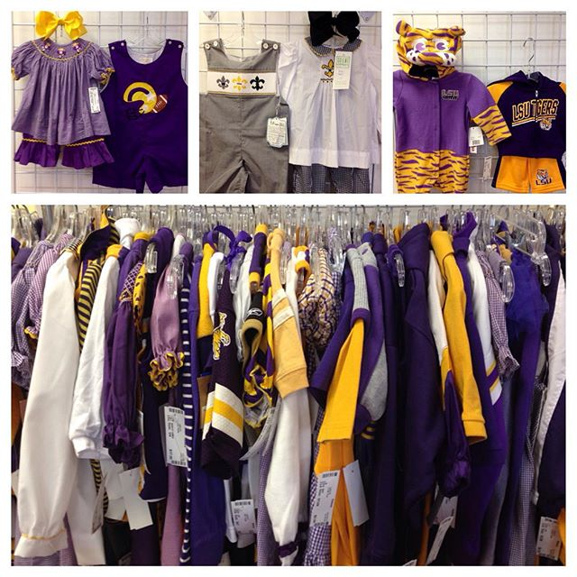Fantastic LSU & Saints clothing arriving daily!#refinerykids #batonrouge #225 #lsu #purpleandgold #fightingtigers #saintsfootball #whodat