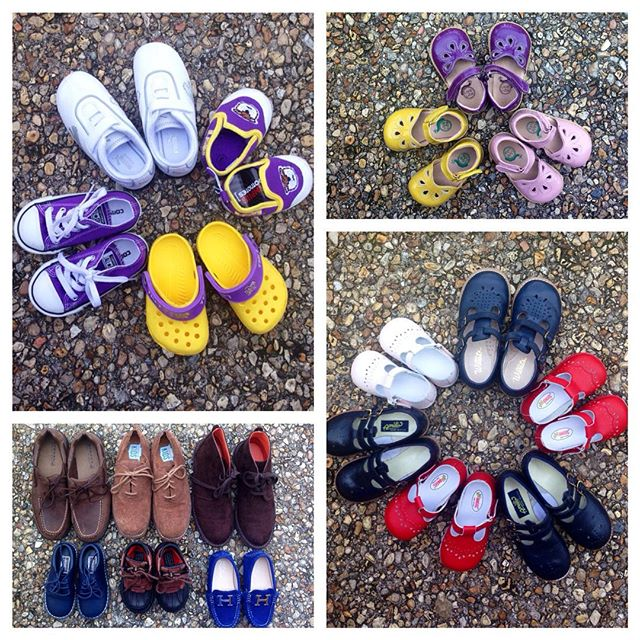 Wonderful shoes arriving every day!#livieandluca #sperry #polo #ralphlauren #lsu #purpleandgold #colehaan #florsheim #willits #amilio #angelshoes #crocs #puma #converse #sunsan #nike#refinerykids #batonrouge #225