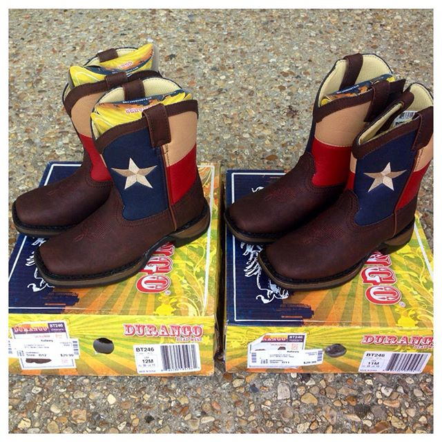 $10 off a purchase of $50 or more, today & tomorrow! What little cowboy wouldn't love these brand new Durango boots?!#durango #refinerykids #225 #batonrouge