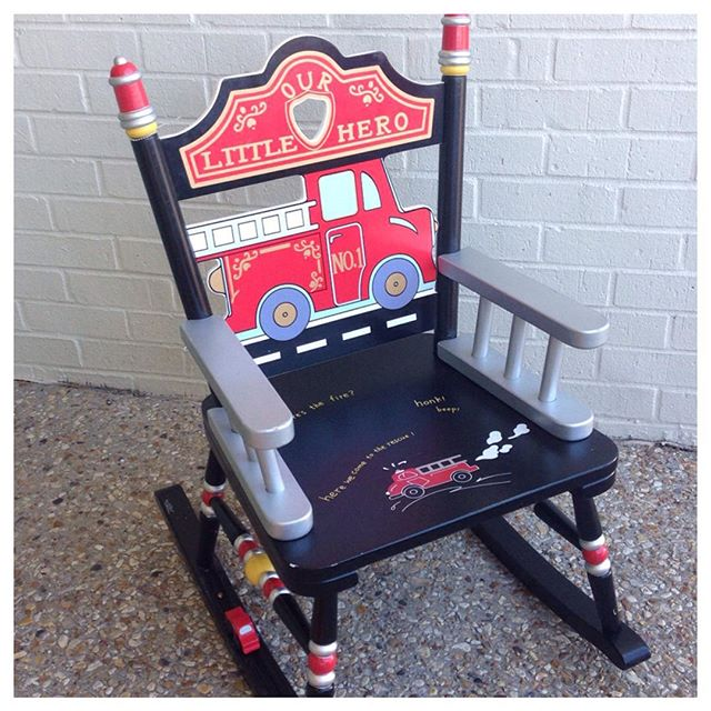 Your little firefighter would love to see this Levels of Discovery rocker under the tree!#levelsofdiscovery #refinerykids #225 #batonrouge #firetruck
