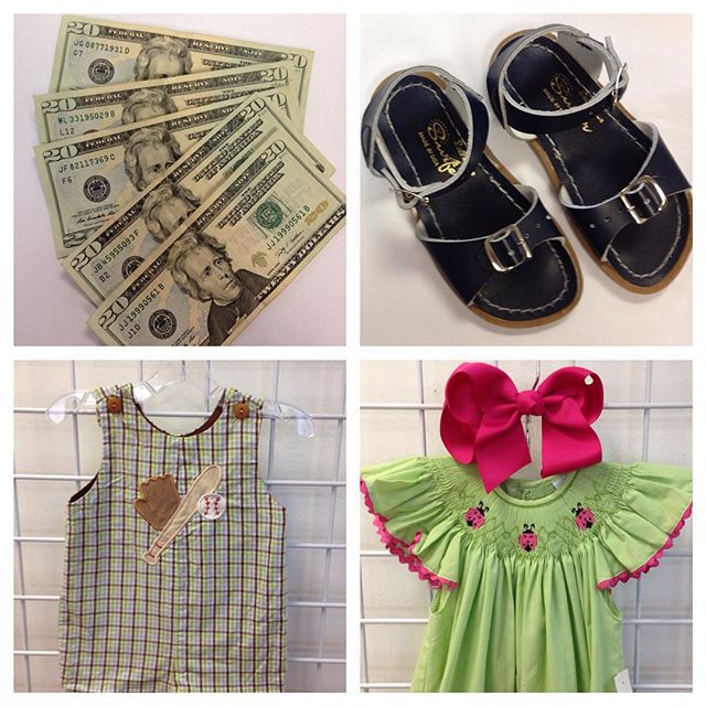 REfinery Kids is buying Spring! We pay you $$$ on the spot for your SunSan sandals, smocked dresses, JonJons, Easter, Mardi Gras, & more!#refinerykids #225 #batonrouge #gobr